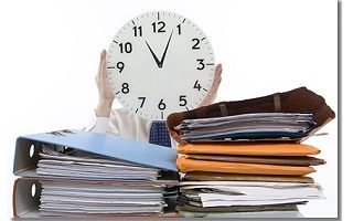 Arbeiten unter Zeitdruck verursacht Stress