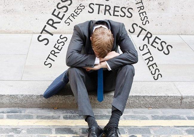 Stress auf der Arbeit, in der Familie und Freizeit