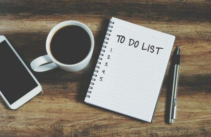 Aufgaben auf einer To-do-Liste notieren
