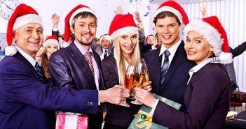 Netzwerken auf der Weihnachtsfeier