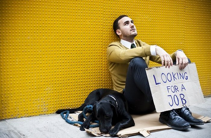 Überqualifizierter Bewerber auf Jobsuche