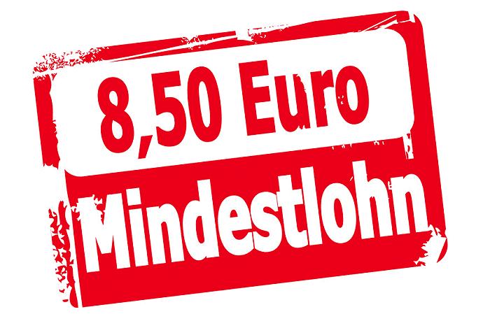 Mindestlohn in Höhe von 8,50 Euro.
