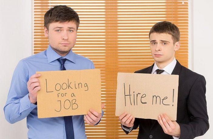 arbeitslose Studenten auf Jobsuche