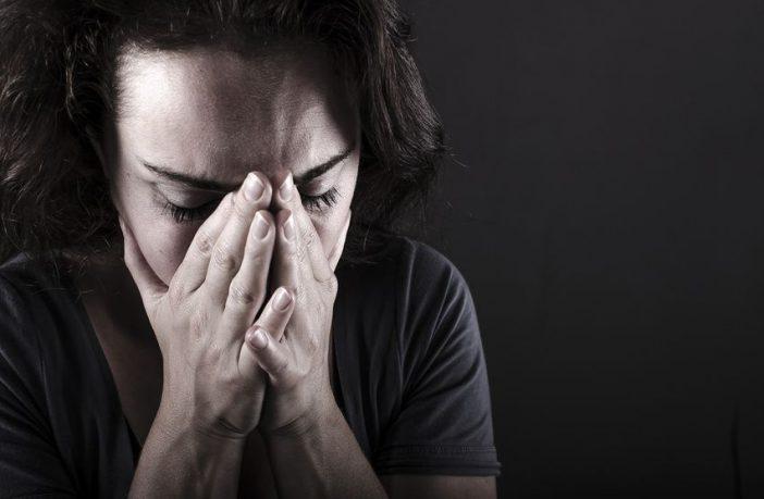 an Depressionen erkrankte Frau