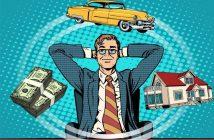 Träumen von Haus, Geld und Auto