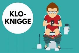 Peinliches Schweigen vs. Smalltalk - Der kleine Klo-Knigge im Job