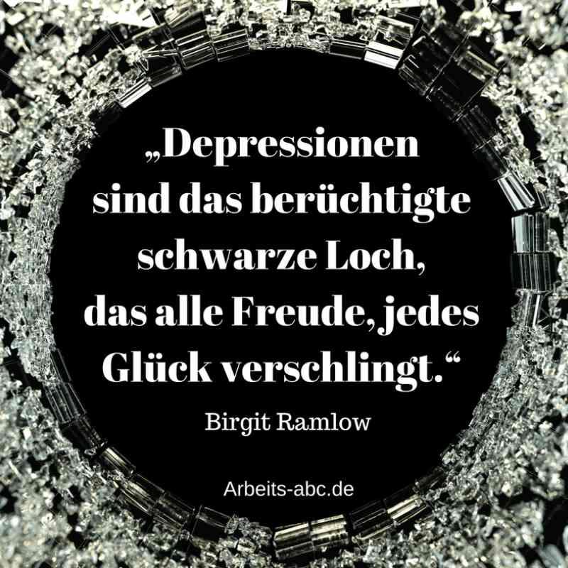 Depressionen sind wie ein schwarzes Loch