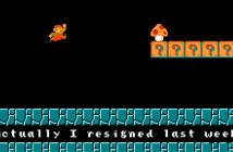 Super Mario als Postbote einer Kündigung