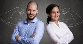 Doppelkarrierepaare sind zwei Menschen, die eine gleichberechtigte berufliche Karriere anstreben