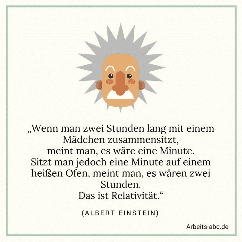 Albert Einstein Relativität Zitat