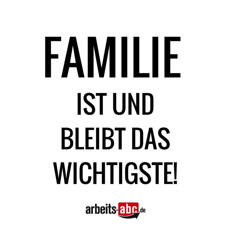 Die Familie ist und bleibt das Wichtigste!