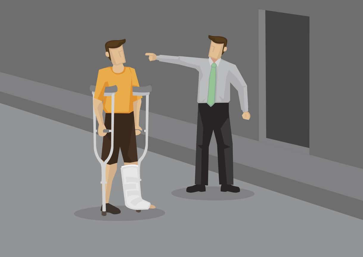 Chef kündigt einem Mitarbeiter wegen andauernder Krankheit