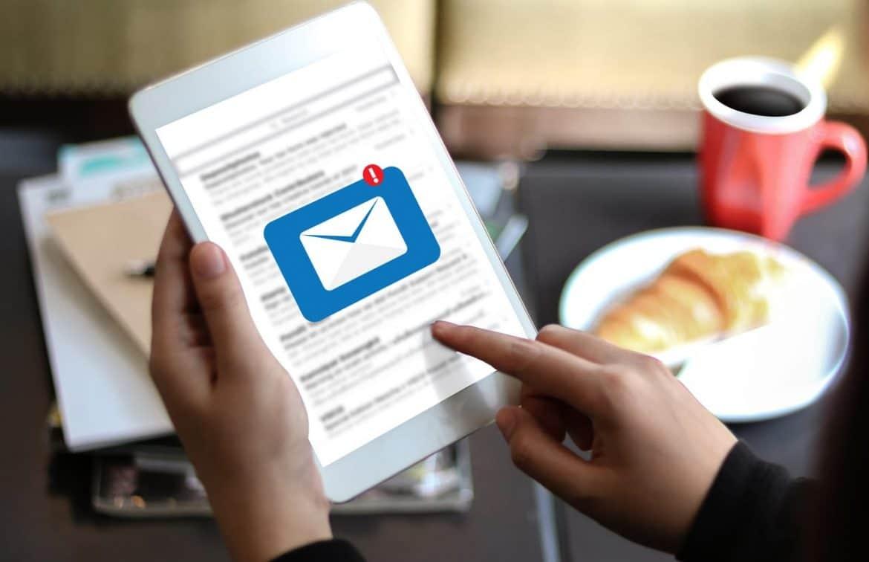 E-Mails am Tablet empfangen und lesen