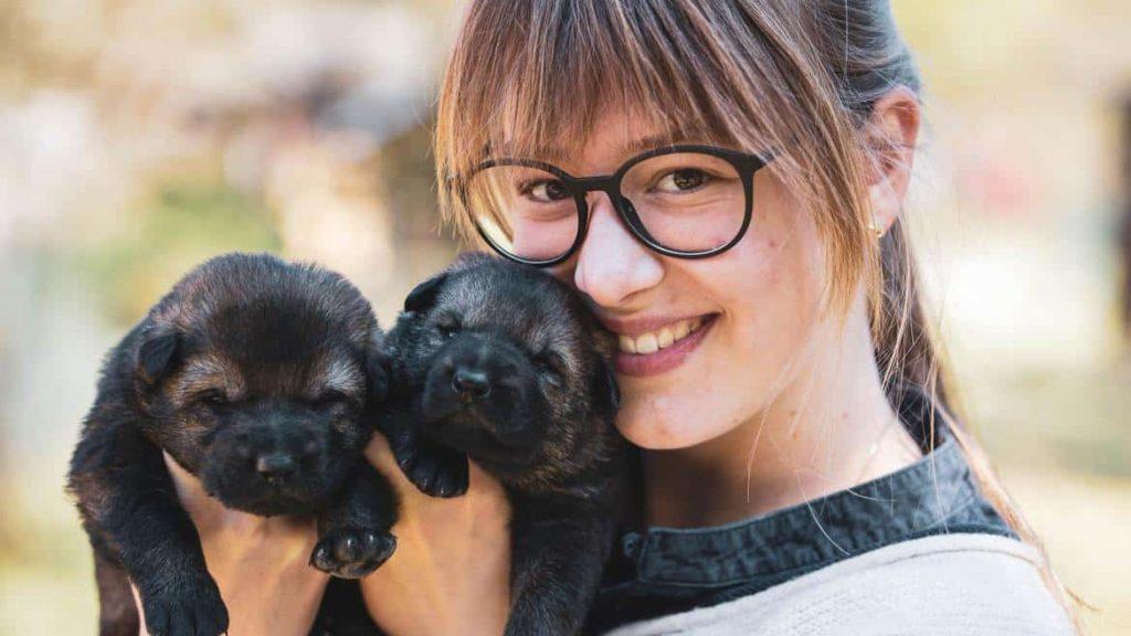 Ein Welpe ist für seinen Hundehalter wie ein Baby