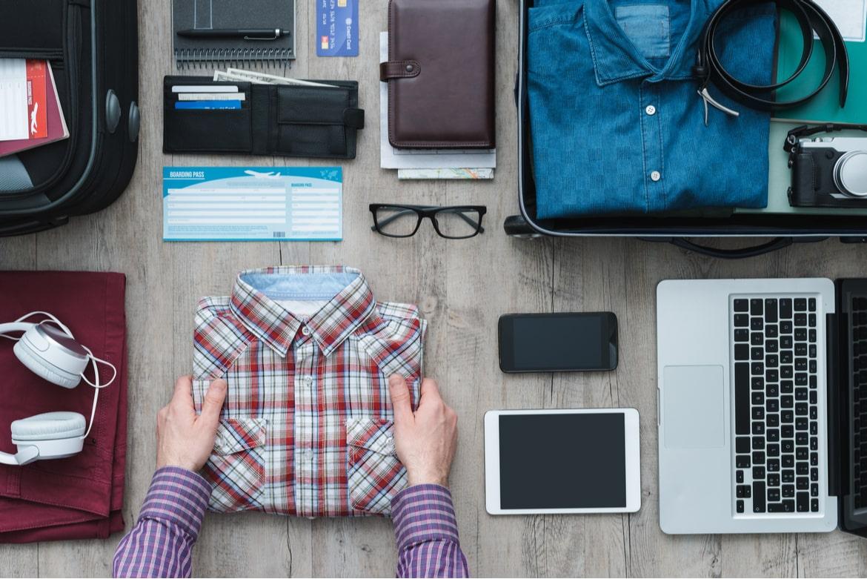 Koffer packen für die Geschäftsreise
