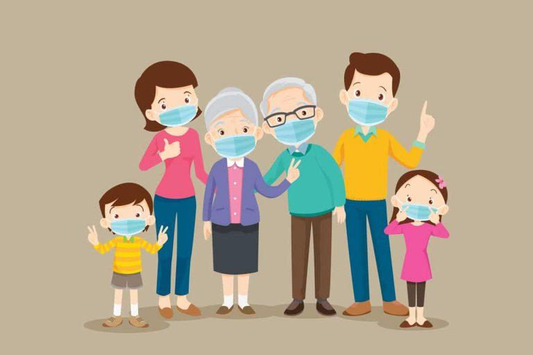 Glückliche Familie führt ihren Haushalt wie ein Unternehmen